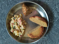 Home made Whole Wheat bread  and Cake, Ash gourd kurma