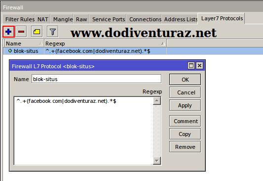 Cara Blok Situs di Mikrotik Dengan Layer 7 Protocol
