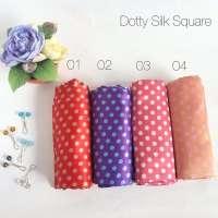 Dotty Silk Square - www.jilbablicious.com