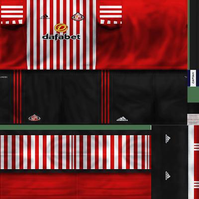 PES 6 Kits Sunderland AFC Season 2017/2018 by VillaPilla