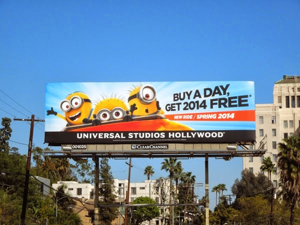 Minion Mayhem ride Universal Studios Hollywood billboard