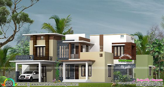 Modern box type Kerala home design