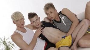 Chris Jansen, Johnathan Strake And Kris Blent (Bareback)