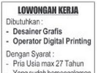Lowongan Kerja BINA KARYA GRAFIKA Banda Aceh