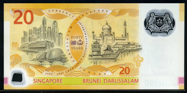 Singapore Dollars polymer money banknotes Commemorative banknote