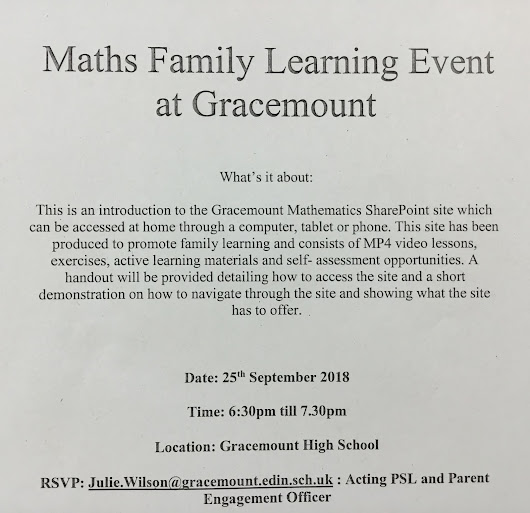 Maths Family Learning Event