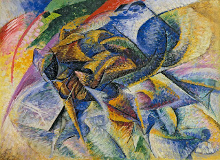 Boccione's Dynamism of a Cyclist (1913) is on display at the Peggy Guggenheim Collection in Venice