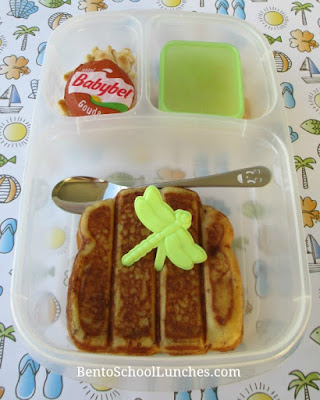 French toast freezer stash lunch in Easylunchboxes
