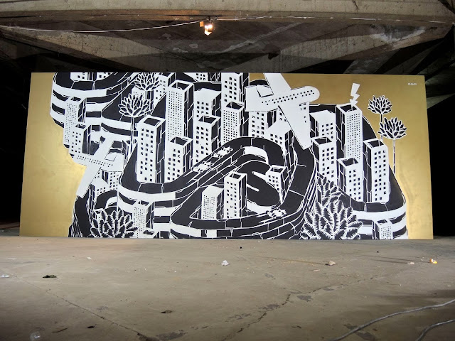 New Indoor Mural By Polish Street Artist M-City For Burn Yard & Lotus F1 Team In Sao Paulo, Brazil. 1