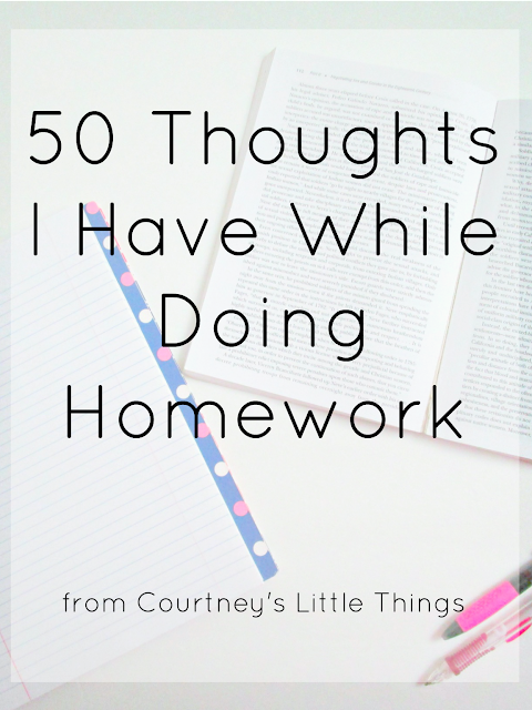 50 Thoughts Everyone Has While Doing Homework