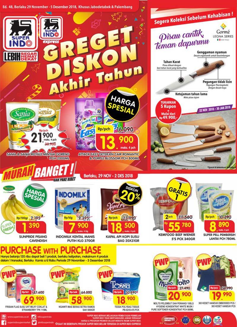 Superindo - Promo Katalog Greget Diskon Akhir Tahun Periode 29 - 05 Desember 2018