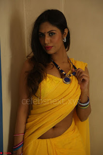 Nishigandha in Yellow backless Strapless Choli and Half Saree Spicy Pics 131.JPG