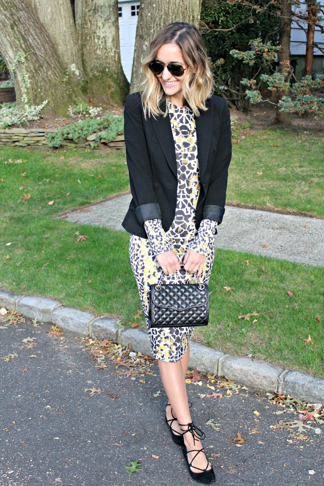 leopard midi dress for fall