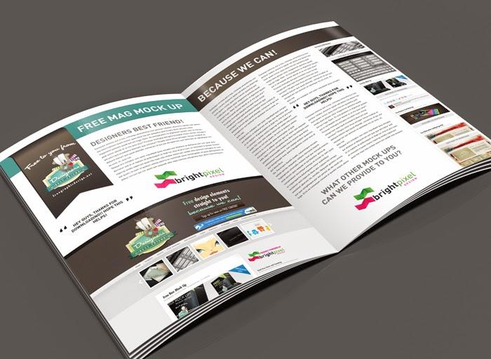 Magazine Page Layout Mockup