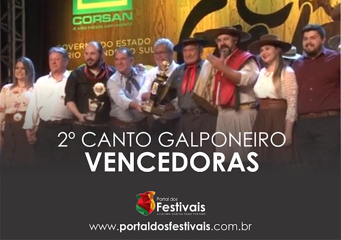 """A composição """"De Mano"""" vence o 2º Canto Galponeiro"""