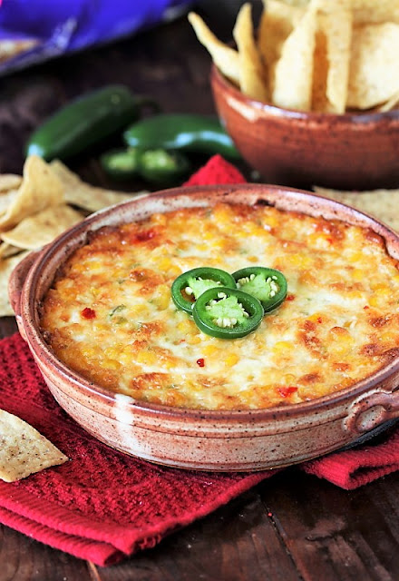 Must-Make Easy Recipes for Game Day! - Cheesy Hot Corn Dip image
