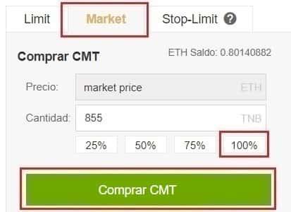 Comprar CyberMiles (CMT) Guía Español