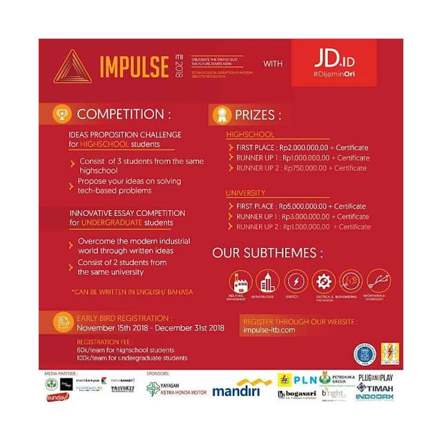 Lomba Impulse ITB 2018 Nasional SMA-Mahasiswa