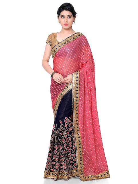 half sarees online, Saree Price, Shop Designer Sarees, Indian Saree, Sarees In Amazon, Amazon Sarees Below 500, Amazon India Offers,