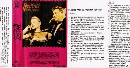 Vinilos Vinilos Paloma San Basilio Placido Domingo Por Fin Juntos 1991 Cassette