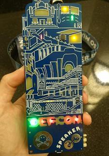 imagen del badge interactivo de la DefCon