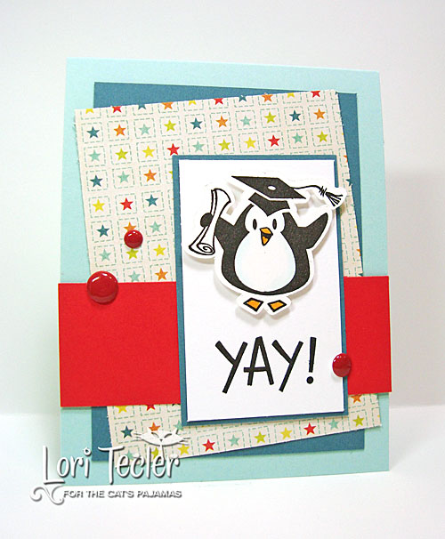 Yay card-designed by Lori Tecler/Inking Aloud-stamps from The Cat's Pajamas