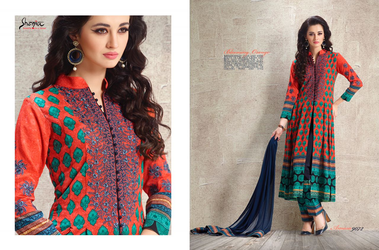 Amara – Georgette Printed With Embroidery Salwar Suit
