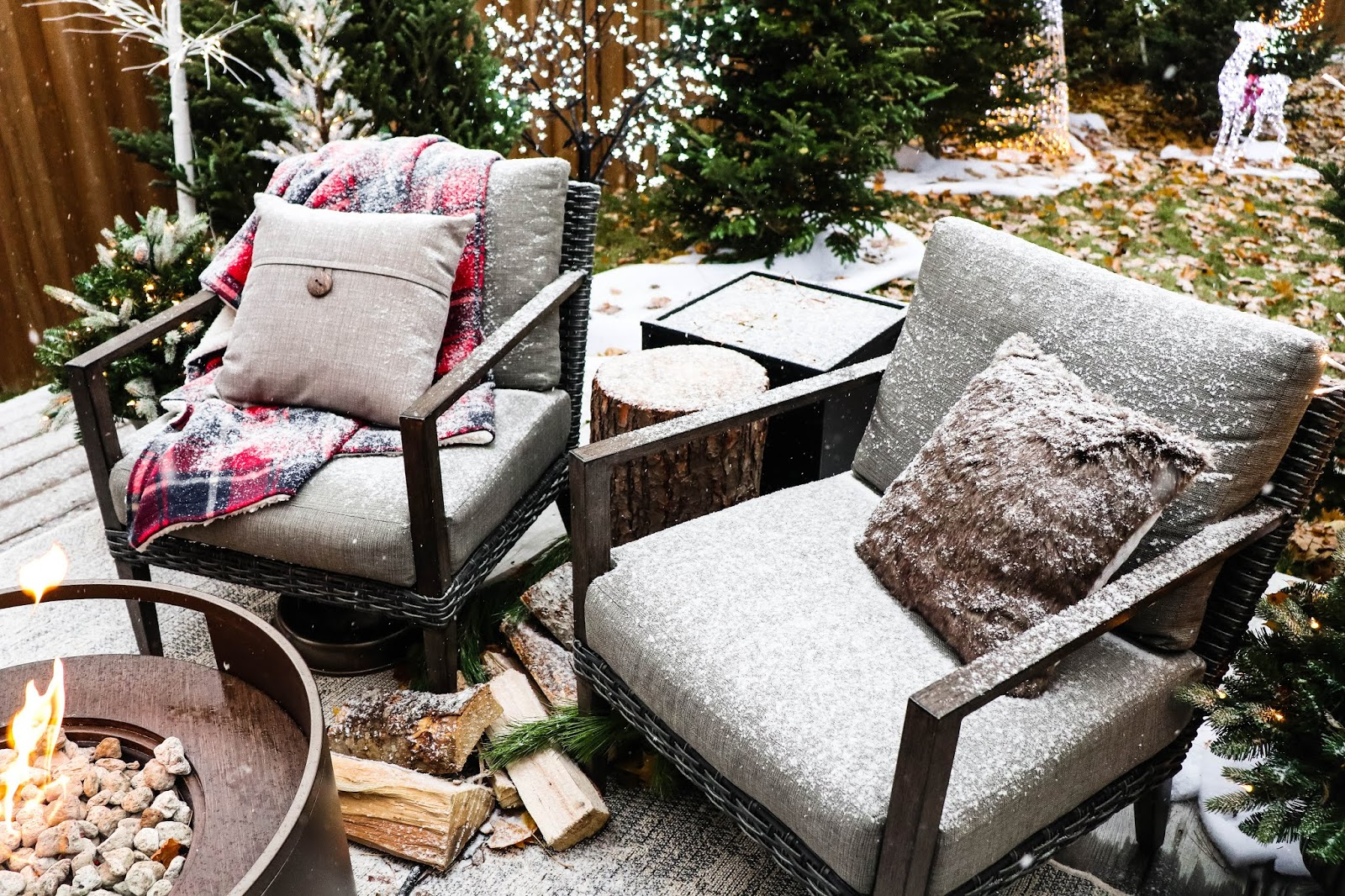 Canadian Tire Winter Outdoor Patio Seating Fireplace Cushions