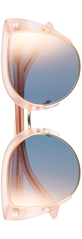 Quay x Missguided Oh My Dayz 53mm Sunglasses Pink/Gold