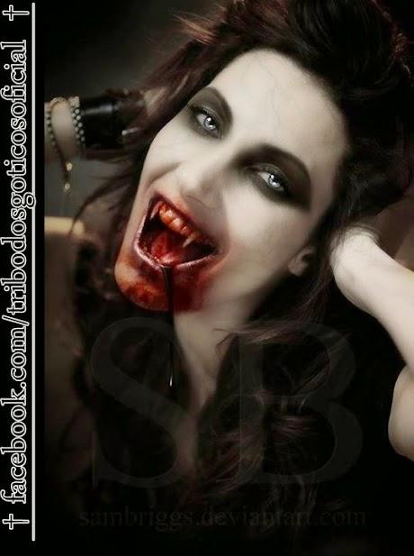 vampiro boca sangue dentes