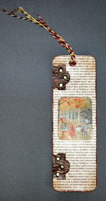 Bookmark:  Autumn Leaves