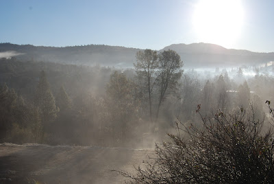 fog lifting yosemite