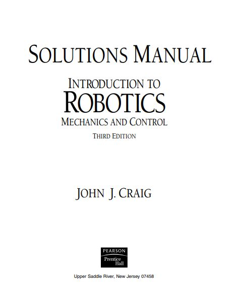 pdf solution manual complete book introduction to robotics rh justeenotes blogspot com Robot Design Mechanical Robot