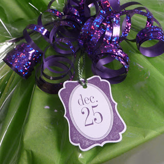 Purple Christmas Gift Tag