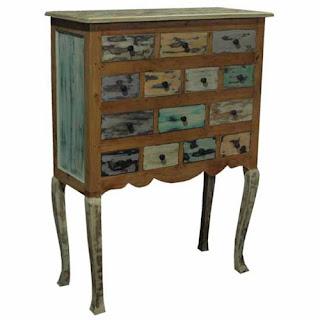comoda desgastada, mueble cajones articuario, mueble rustico colores, comoda desigual