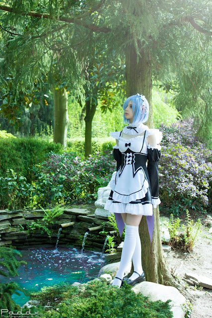 rem cosplay in the forest