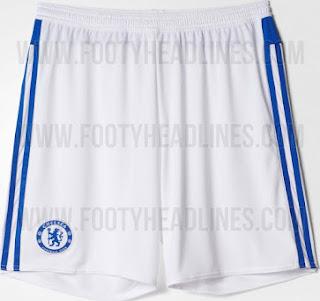 gamabr desain celana jersey chsela musim depan Celana jersey Chelsea away warna putih terbaru musim 2015/2016