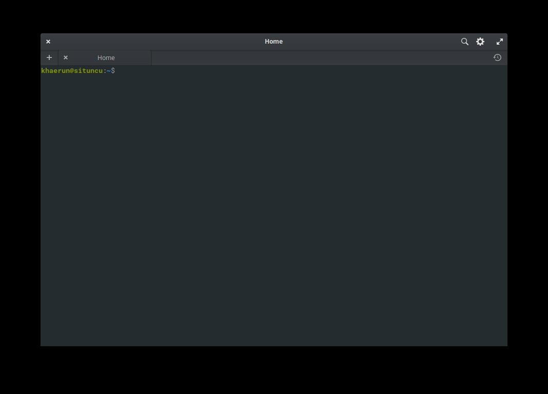 Gambar Tampilan Terminal Linux