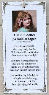 grattis dikt till min dotter Annas idéer bloggbutik grattis dikt till min dotter