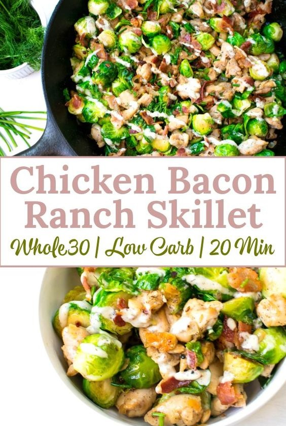 Chicken Bacon Ranch Skillet