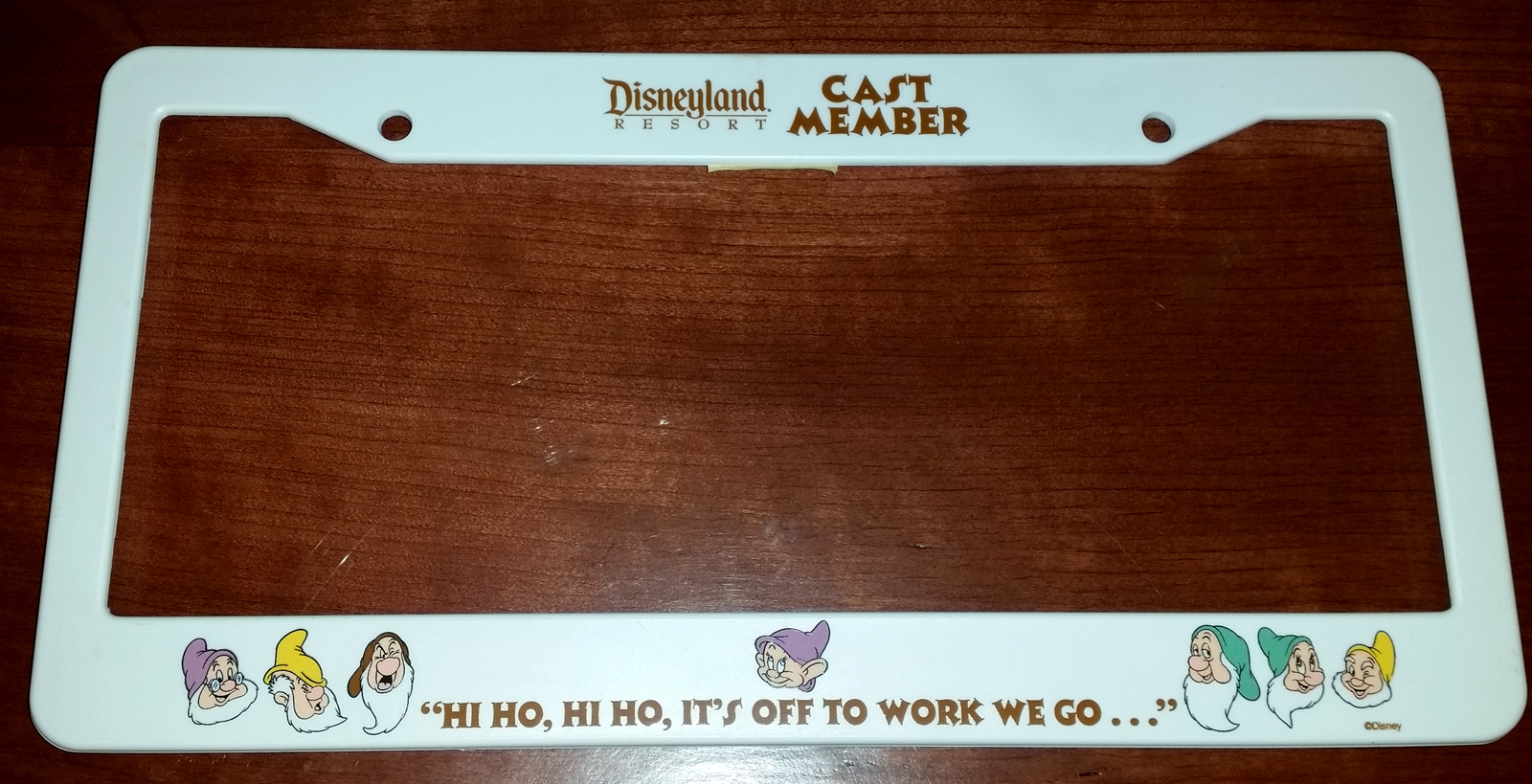 a snow white license plate frame released at disneyland in 2004 along with the opening of snow white an enchanting musical cast member exclusive - Disney License Plate Frame