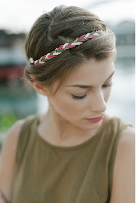 headband pas si sages kaki rose