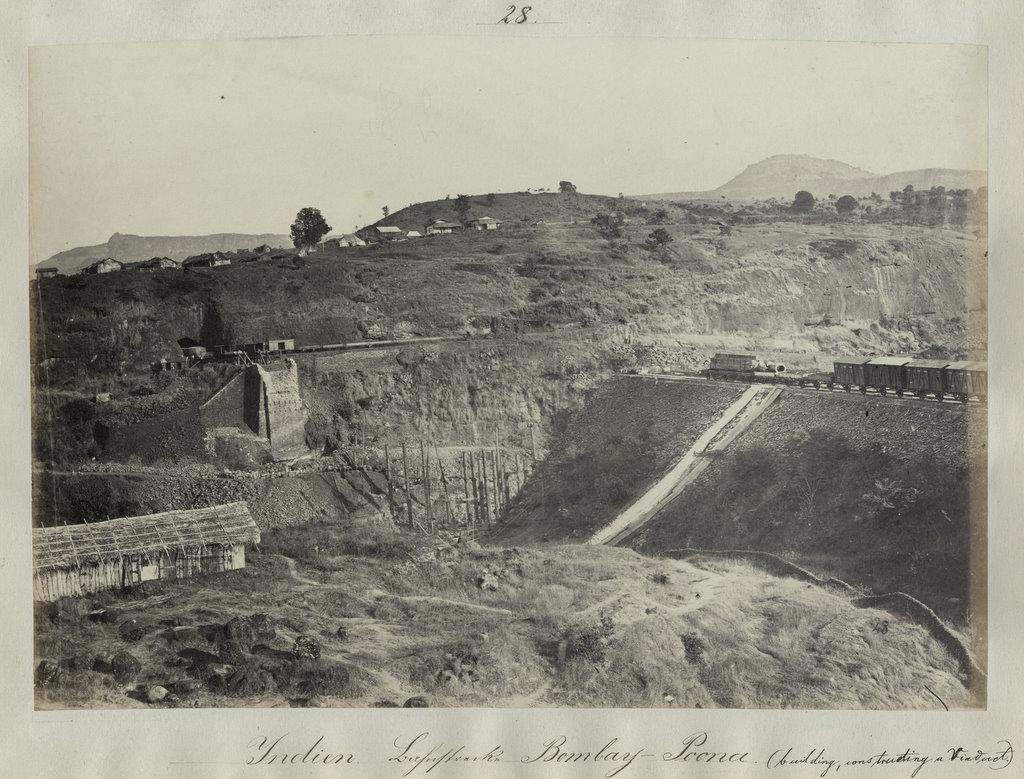 Bombay (Mumbai) Poona Railway Construction - 1860's