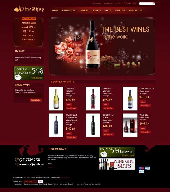 thiết kế web bán hàng rượu giá rẻ