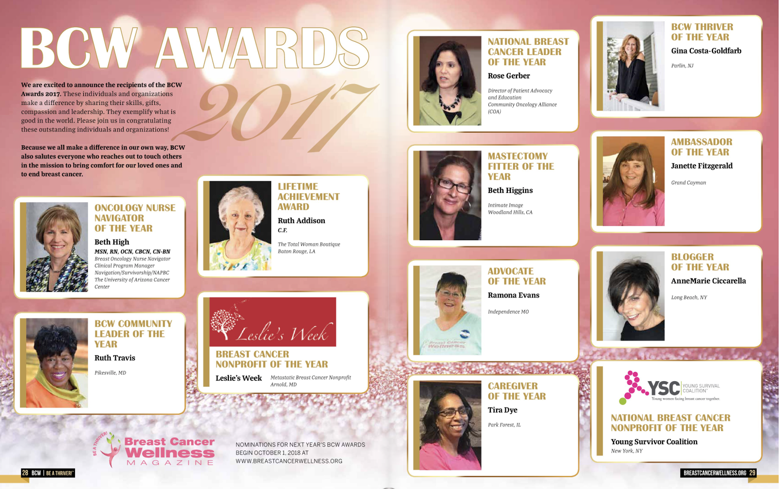 Many Thanks, Breast Cancer Wellness Magazine!