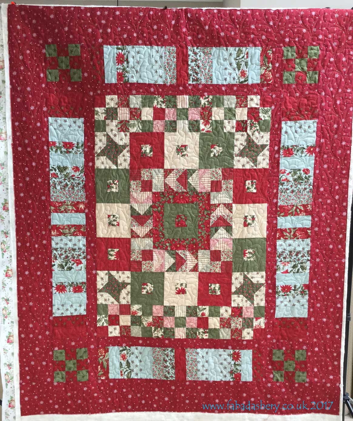 two christmas jelly roll quilts by ann quilted by fabadashery long arm quilting