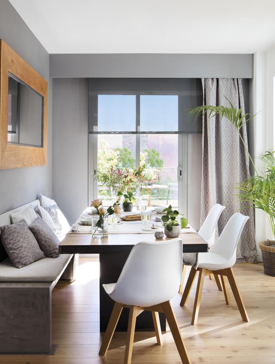 Mieszkanie w skandynawsko - industrialnym stylu, wystrój wnętrz, wnętrza, urządzanie domu, dekoracje wnętrz, aranżacja wnętrz, inspiracje wnętrz,interior design , dom i wnętrze, aranżacja mieszkania, modne wnętrza, styl skandynawski, styl industrialny, jadalnia, stół, krzesła skandynawski