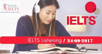 IELTS LISTENING PRACTICE TEST 2017 WITH ANSWERS | 24.09.2017