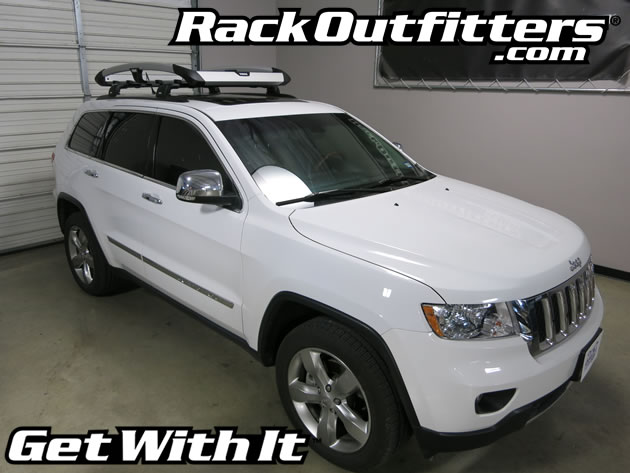 Thule 865 Trail And Aeroblade Edge Roof Rack On Jeep Grand