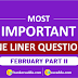 Current Affairs February 2019 - One Liners Questions| Part-II (Download PDF)